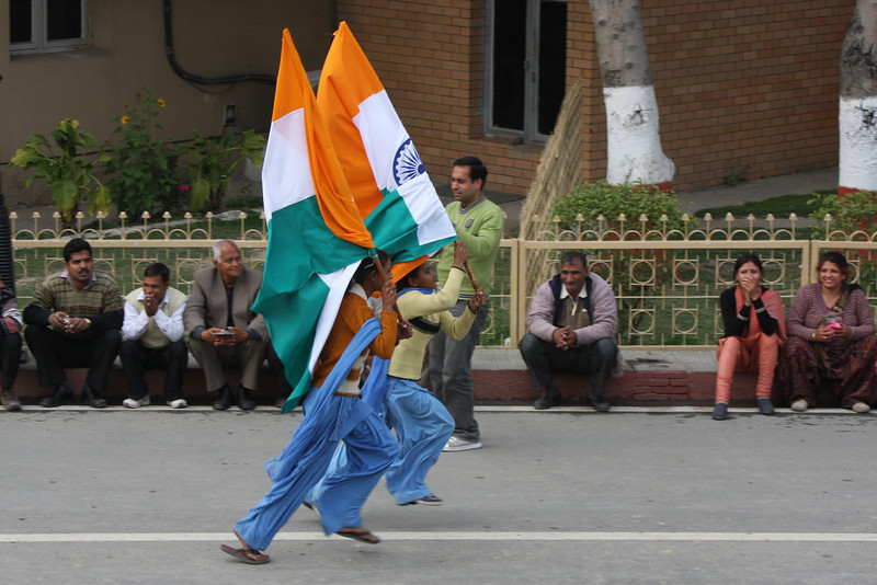 school children run with the flag The Wagah crossing s only about 40mins from Amritsar and great fun. Get there early for the ceremony.