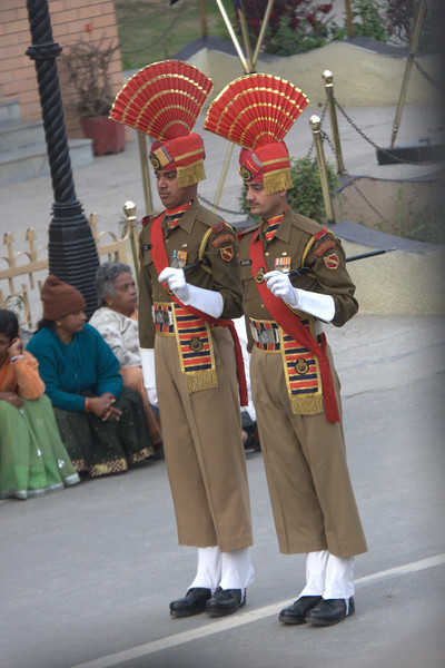 part of the Indian ceremony team The Wagah crossing s only about 40mins from Amritsar and great fun. Get there early for the ceremony.