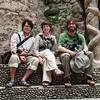 James, Antonia and Yann in the Nek Chand Rock Garden