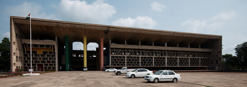 The Punjab and Haryana High Court, designed by Le Corbusier