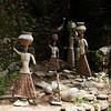 Pottery figurines in the Nek Chand Rock Garden