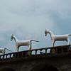 Horse sculptures in the Nek Chand Rock Garden