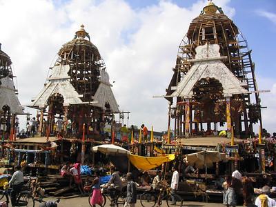 Jagannath chariot for Rath Yatra festival in Puri
