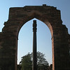 "Iron Pillar (read below)<br /> <br /> This pillar is one of the foremost metallurgical wonders of the world. It stands about 22 feet high and weighs more than 6 tons!! <br /> <br /> ""It was allegedly erected at the time of Chandragupta II Vikramaditya (375–413), though other authorities give dates as early as 912 BCE. It is the only remaining piece of a Hindu and Jain temple complex which stood there before being destroyed by Qutb-ud-din Aybak who built around it when he constructed the Qutub Minar and Quwwat-ul-Islam mosque.<br /> <br /> The pillar is 98% wrought iron of pure quality, and is a testament to the high level of skill achieved by ancient Indian ironsmiths. It has attracted the attention of both archaeologists and metallurgists, as it has withstood corrosion for 1600 years, despite harsh weather.""<br /> <br /> <a href=""http://en.wikipedia.org/wiki/Iron_pillar_of_Delhi"">http://en.wikipedia.org/wiki/Iron_pillar_of_Delhi</a>"