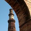Qutub Minar Under Arch