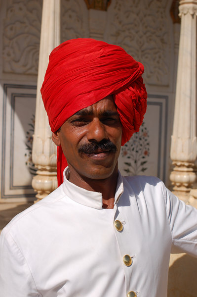 Guard at the Maharaja's City Palace.