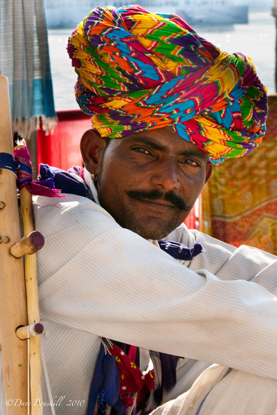 Portrait of Indian Musician in Rajasthan