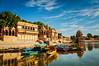 Gadi Sagar - artificial lake. Jaisalmer, Rajasthan, India