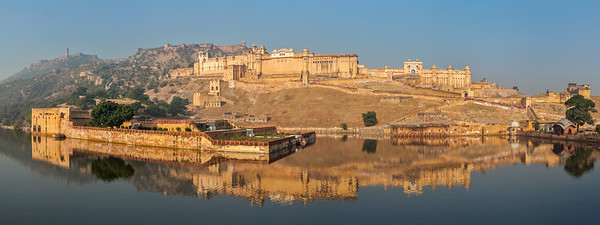 Panorama of Amer (Amber) fort, Rajasthan, India