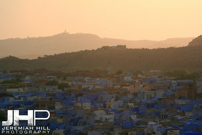 """Sunset on The Blue City"", Meherangarh Fort, Jodhpur, Rajasthan, India, 2007 Print IND3920-527"