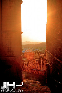 """Passage"", Meherangarh Fort, Jodhpur, Rajasthan, India, 2007 Print IND3920-515"