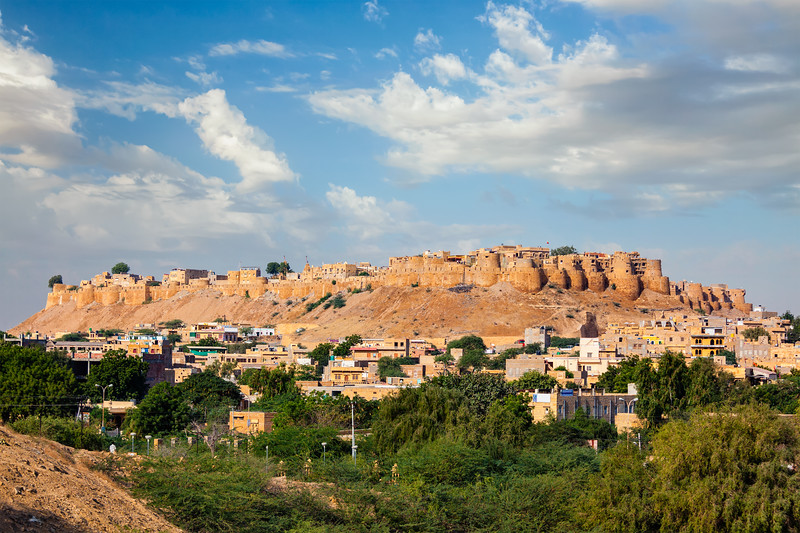 "Jaisalmer Fort - one of the largest forts in the world, known as the ""Golden Fort"". Local name is ""Sonar quila"""