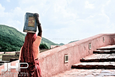 """Steps With Can"", Jaipur, Rajasthan, India, 2007 Print IND3917-172"