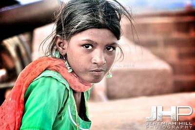 """Meherangarh Girl #1"", Meherangarh Fort, Jodhpur, Rajasthan, India, 2007 Print IND3920-494"