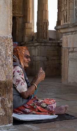 Mendicant at Meera Temple