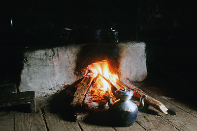Cooking stove in farm house at Bakhim