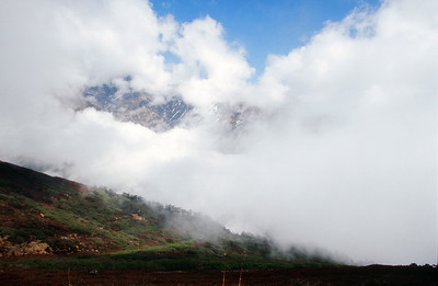 Clouds rising from the Prek Chu Valley
