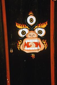 Painting on door of Zong Dog Pairi Fo-Brang monastery, Kalimpong