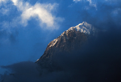 Pandim through the clouds.