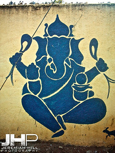 """Ganesha Wall Painting"", Mysore, Karnataka, India, 2005 Print INDIA6-216"