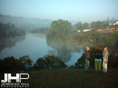 """Lake Of Glass"", early morning trek, Madekeri, Karnataka, India, 2004 Print INDIA5-23"