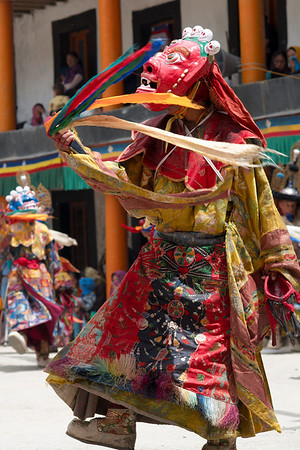 A spinning Chaam dancer