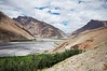 Spectacular view of the Spiti River