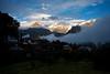 Kalpa village, in the shadow of the Kinner Kailash Mountain range