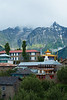 The Kinner Kailash mountain range appears over Kalpa for the first time since our arrival