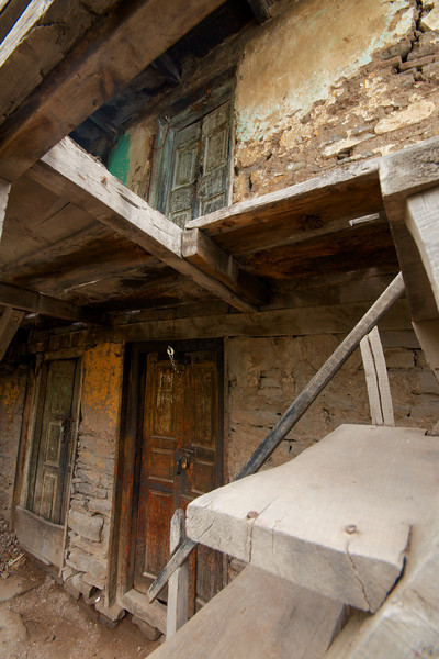 Some homes in Kalpa are crumbling