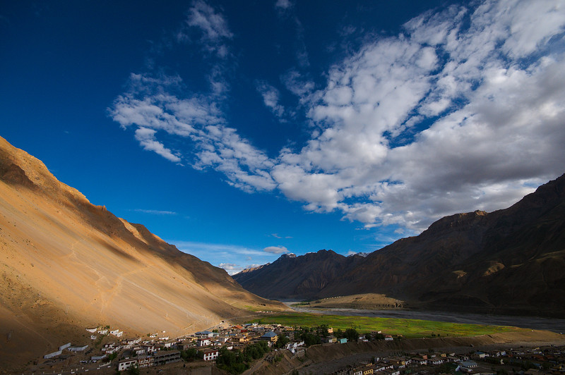View of Kaza from the surrounding hills.