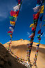 Prayer flags above the Kaza monastery.
