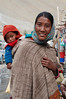 Mother and child in the Kaza market.