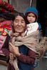 Grandmother and child in the Kaza market.