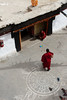 Monks in a Ki Gompa courtyard