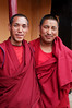 The monks who showed Antonia and Emilie around the gompa