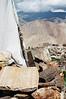 Prayer flags and mani stones in the hills around Nako