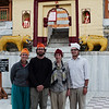 Visitors must cover their heads before entering the Bhimakali Temple