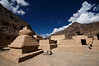 Mud brick chorten in a courtyard of the Tabo Monastery