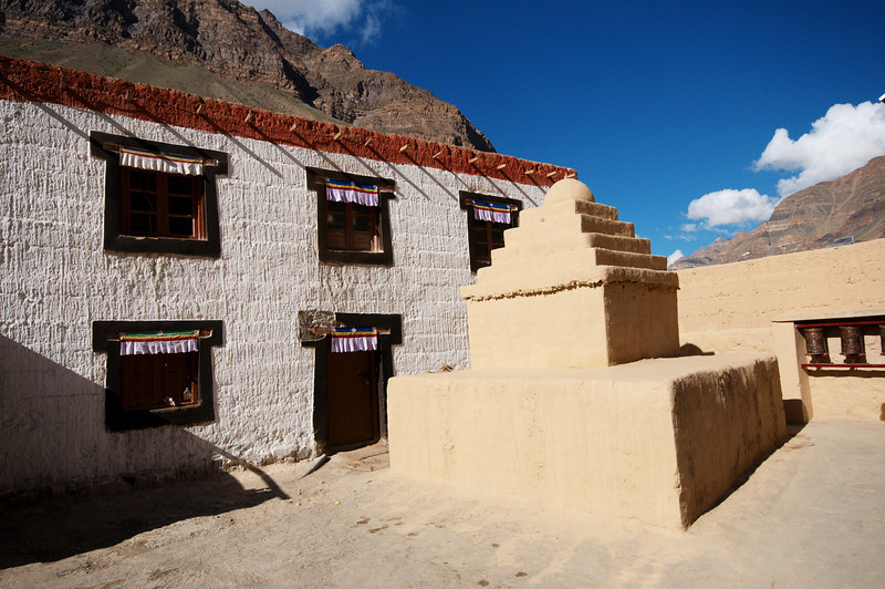 Chorten outside a Tabo Monastery building