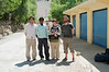 James, Antonia and Yann pose with a south Indian worker, in Tabo for the tourist season