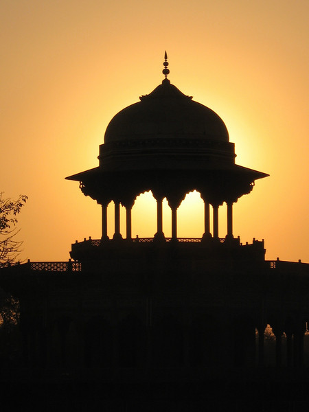 Cupola in the Sunset, Near the Taj Mahal, Agra, India