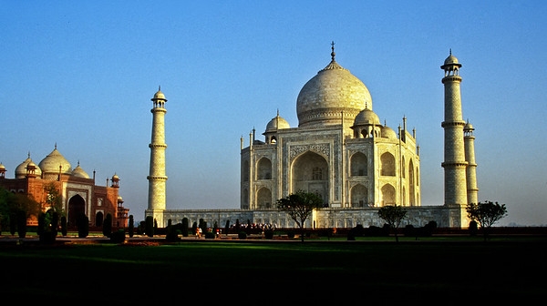The Taj Mahal is a mausoleum Mughal emperor Shah Jahan built in memory of his third wife, Mumtaz Mahal, between 1632 and 1653