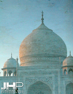 """White Taj On Water Canvas"", Agra, Uttar Pradesh, India, 2007 Print IND397-019"