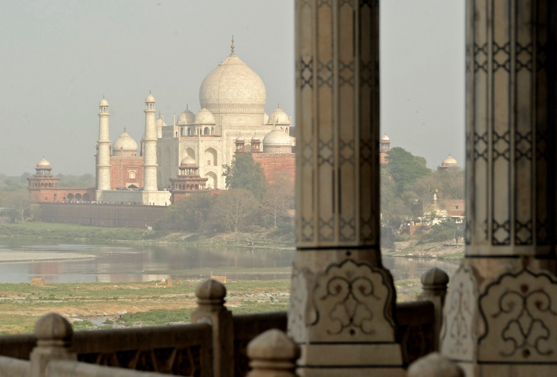 Taj Mahal from the Red Fort, Agra, Sun 25 March 2012 2.