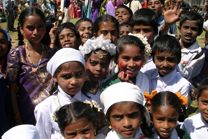 India Republic Day, January 26, school, Ooty, Tamil Nadu, India