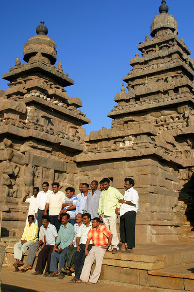 co-workers, visiting the shore temple in Mamallapuram