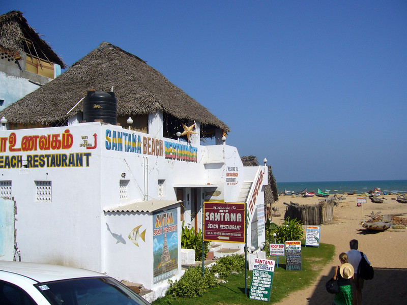good restaurant and beer, the beach by the shore temple in Mamallapuram