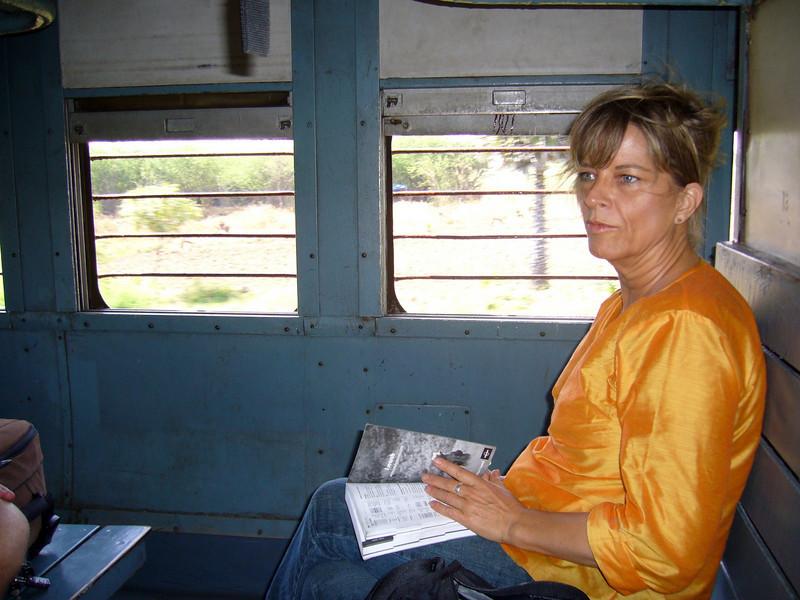 Our train car to Rameswaram Maudrai, Tamil Nadu, India Meenakshi Temple