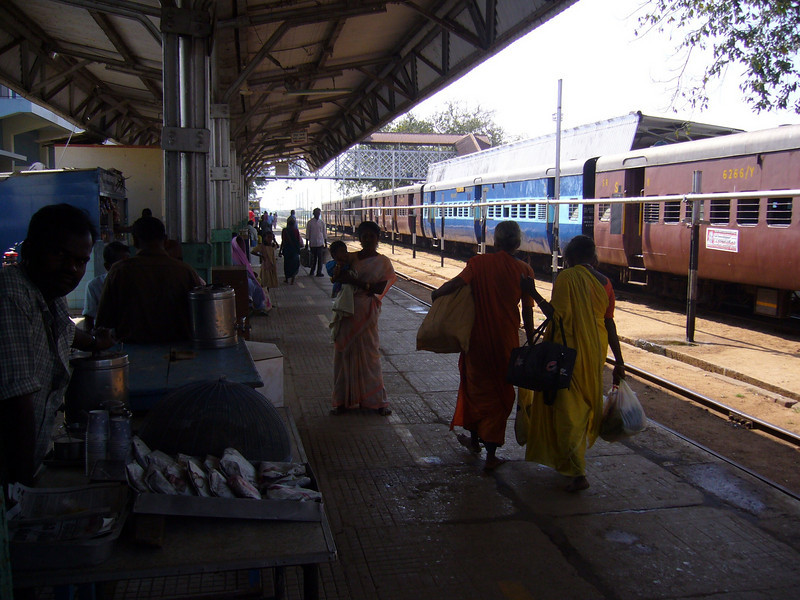 Madurai train station Maudrai, Tamil Nadu, India Meenakshi Temple